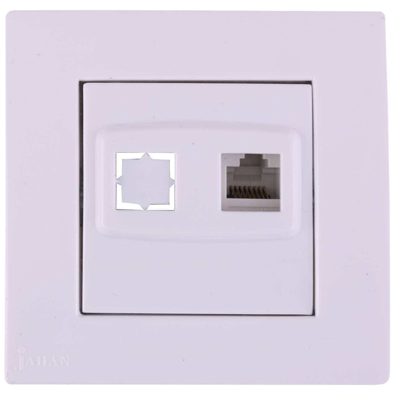 سوکت شبکه جهان الکتریک مدل کارن کد JEK2356