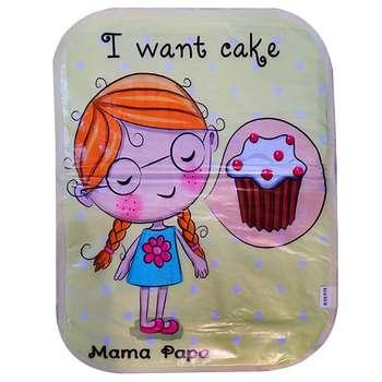 زیرانداز تعویض نوزاد ماما پاپا طرح کیک خوشمزه کد 250