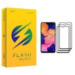 محافظ صفحه نمایش فلش مدل +HD مناسب برای گوشی موبایل سامسونگ Galaxy A10 بسته سه عددی