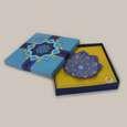 بشقاب مینا کاری گرد  رنگ آبی طرح اسلیمی مدل 1000100015 thumb 1
