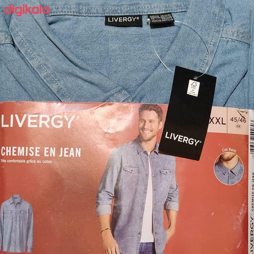 پیراهن آستین بلند مردانه لیورجی مدل MPB2 main 1 2