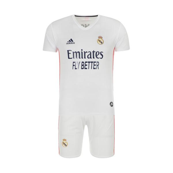 ست پیراهن و شورت ورزشی پسرانه طرح تیم رئال مادرید مدل 2021