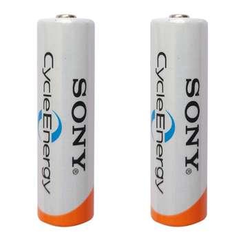 باتری قلمی قابل شارژ سونی کد HR15/51 ظرفیت 2000 میلی آمپرساعت بسته 2 عددی