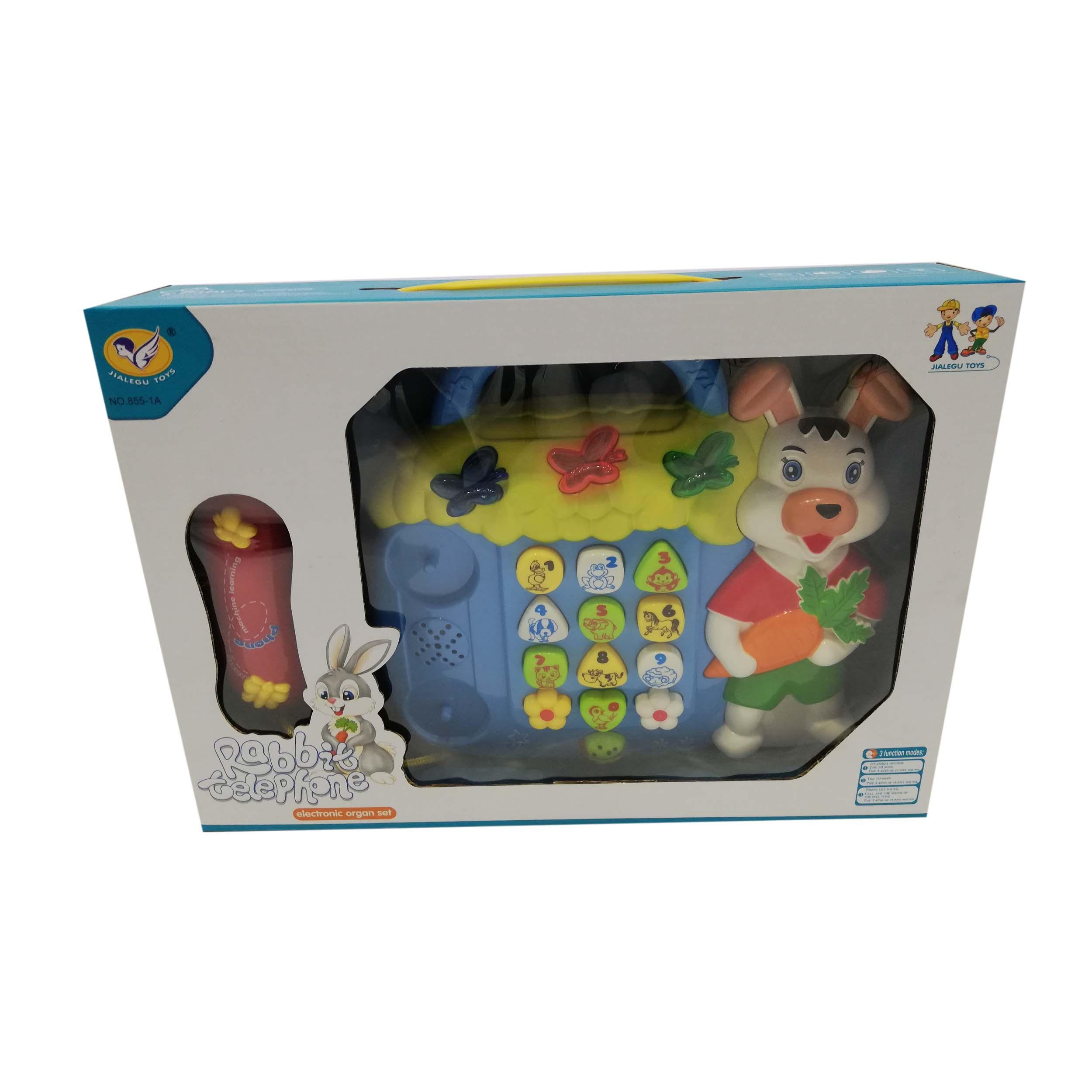 بازی آموزشی طرح تلفن مدل خرگوش کد NO.855-1A