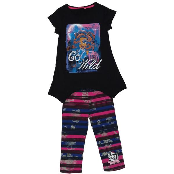 ست تی شرت و شلوار دخترانه مانستر های مدل 11-4-137