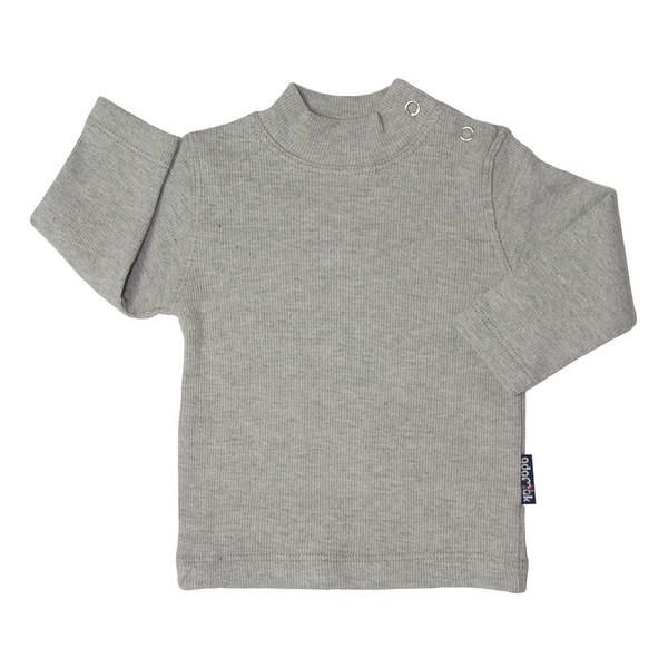 تی شرت آستین بلند آدمک کد 145401 رنگ طوسی
