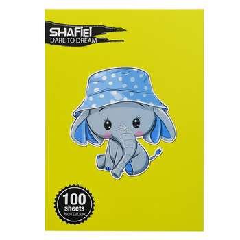 دفتر مشق 100 برگ شفیعی طرح فیل کد 340