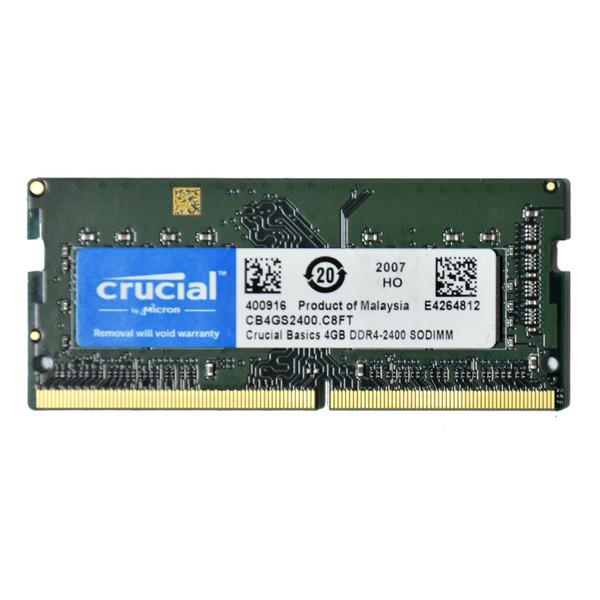 رم لپ تاپ DDR4 تک کاناله 2400 مگاهرتز کروشیال مدل CB4GS2400 ظرفیت 4 گیگابایت