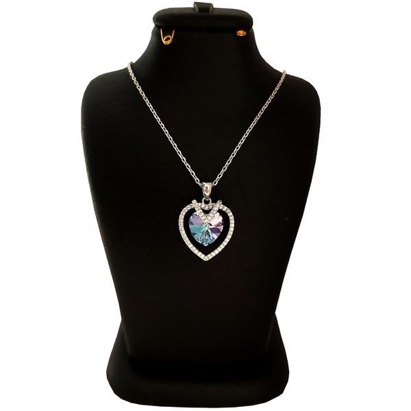 گردنبند نقره زنانه سواروسکی مدل قلب کد NB