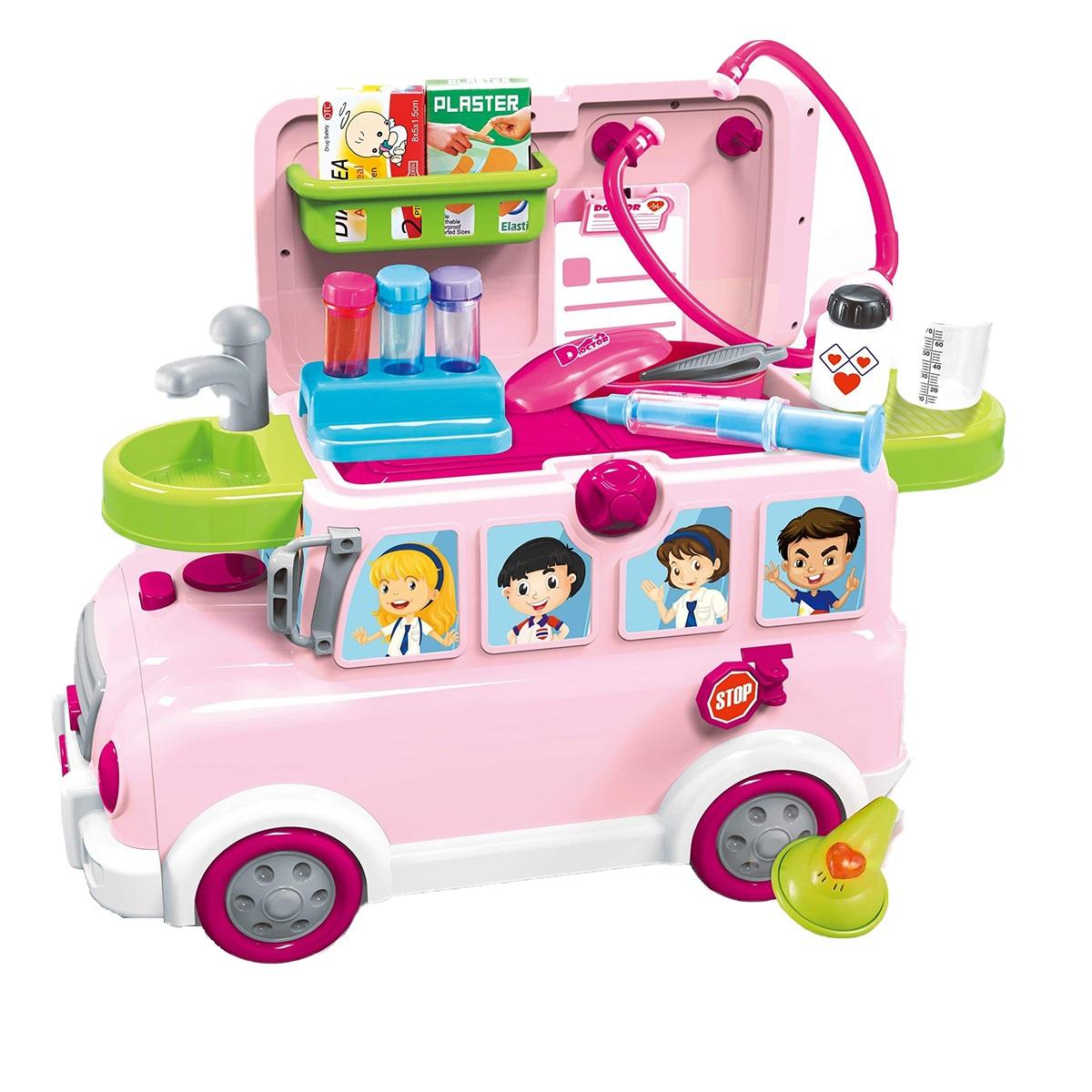 ست اسباب بازی تجهیزات پزشکی مدل اتوبوس شادی کد 068