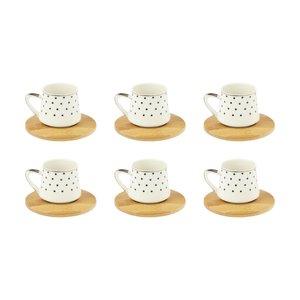 سرویس قهوه خوری 12 پارچه مدل دایره کد 02001