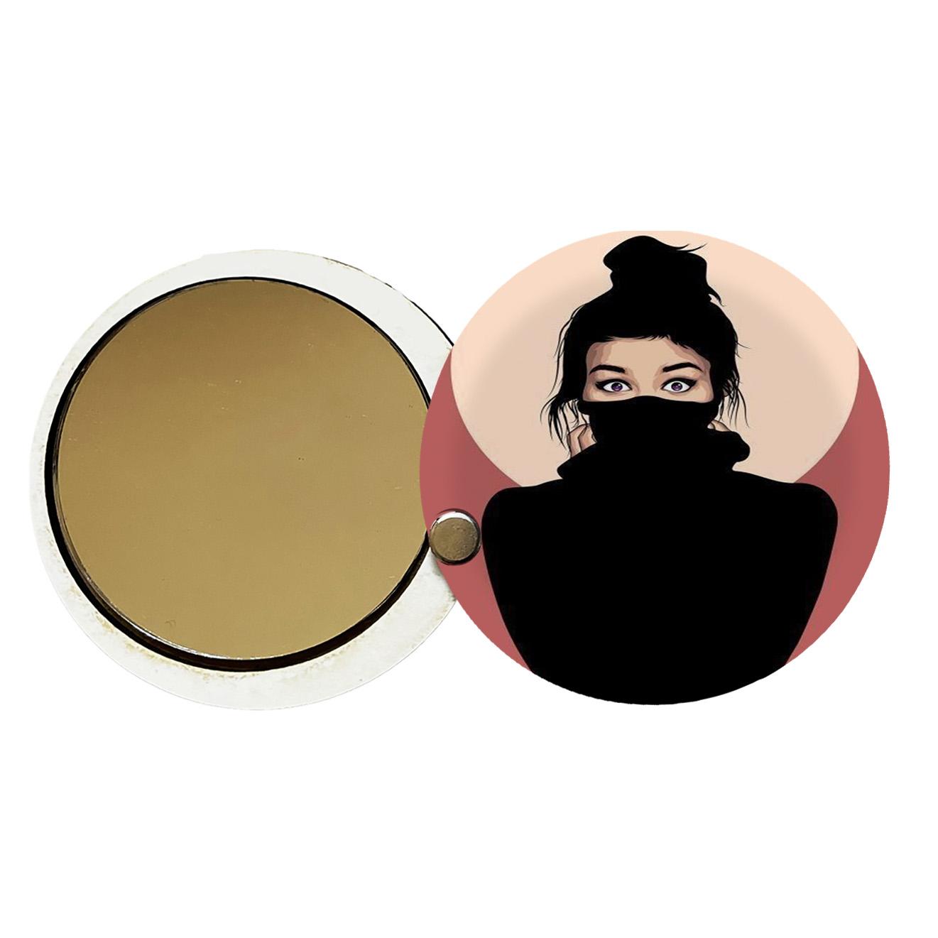 آینه جیبی طرح دخترانه کد ay75