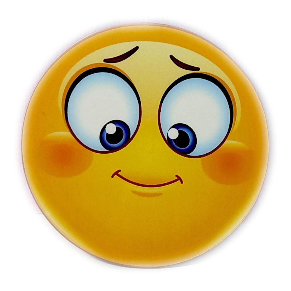زیر لیوانی مدل ایموجی لبخند