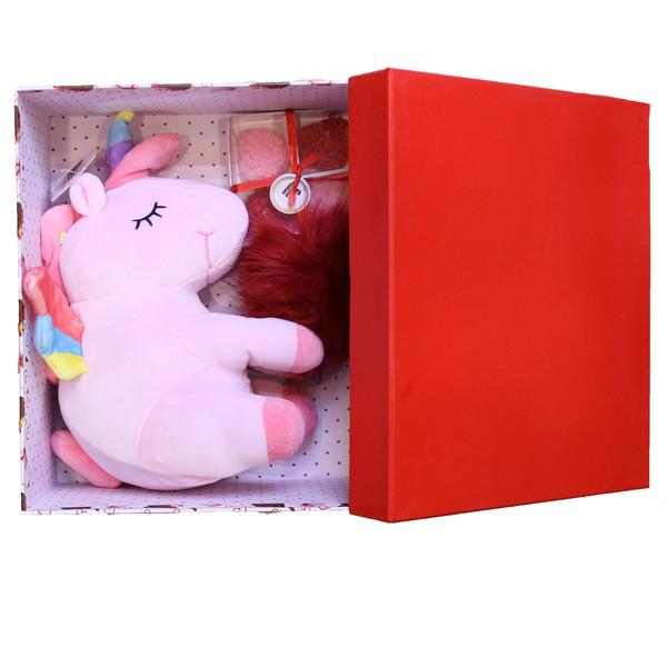 ست هدیه عروسک طرح یونیکورن کد220