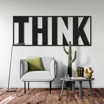 استیکر دیواری طرح think