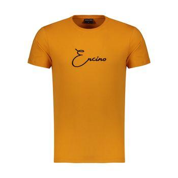 تیشرت آستین کوتاه مردانه ان سی نو مدل لوریس رنگ نارنجی