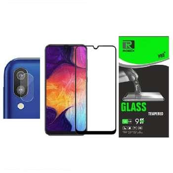محافظ صفحه نمایش روبیکس مدلFLA20مناسب برای گوشی موبایل سامسونگ Galaxy A20 به همراه محافظ لنز دوربین