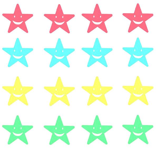 استیکر دیواری کودک طرح ستاره شب تاب کد 4SS بسته 35 عددی