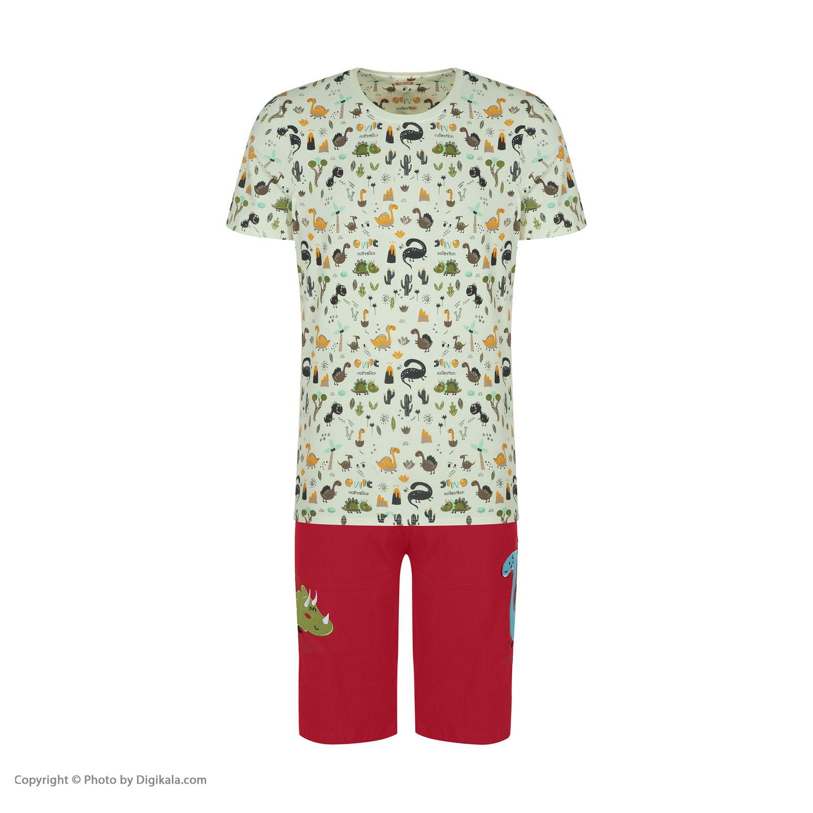ست تی شرت و شلوارک راحتی مردانه مادر مدل 2041110-74 -  - 3