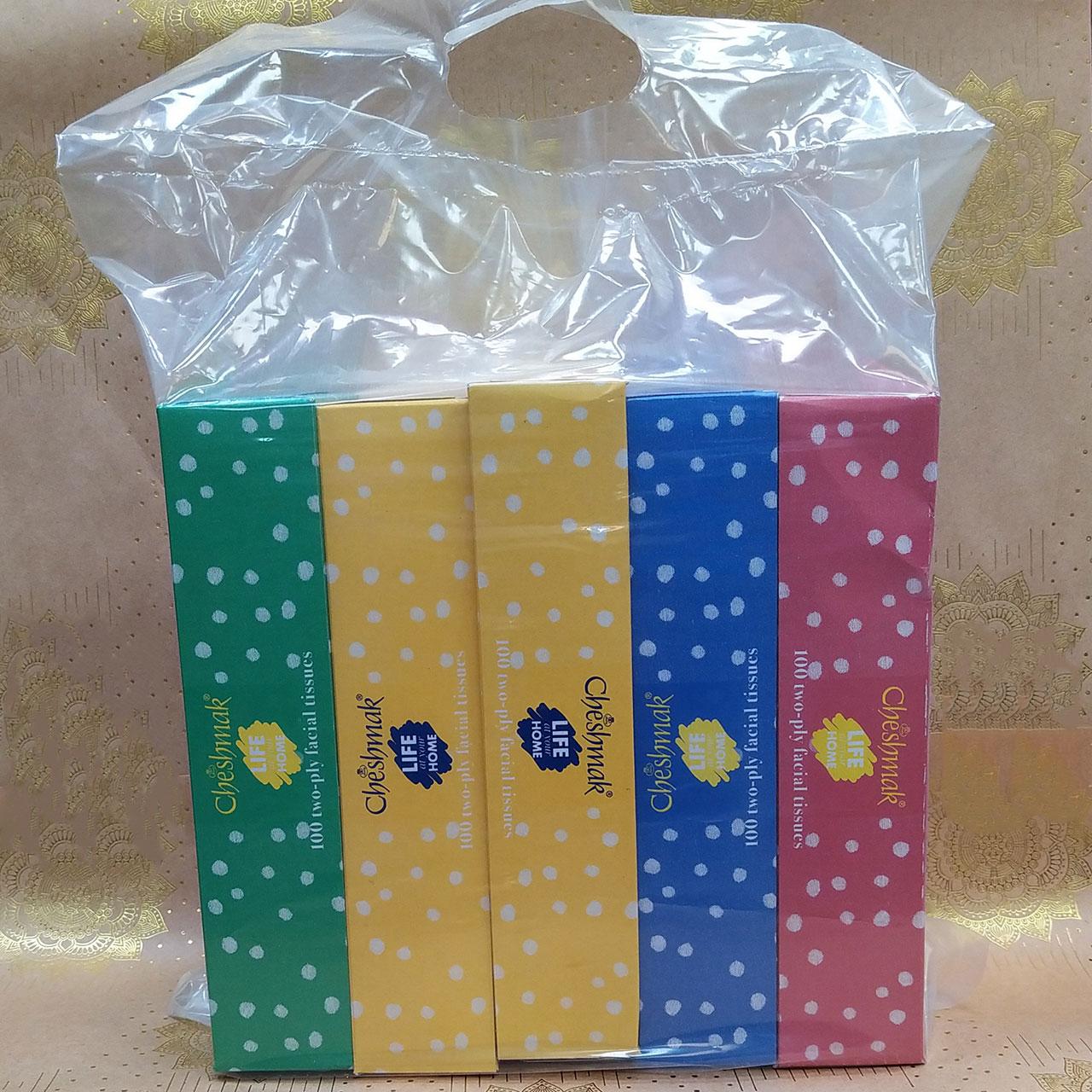 دستمال کاغذی 100 برگ چشمک مدل Spotted بسته 5 عددی main 1 2