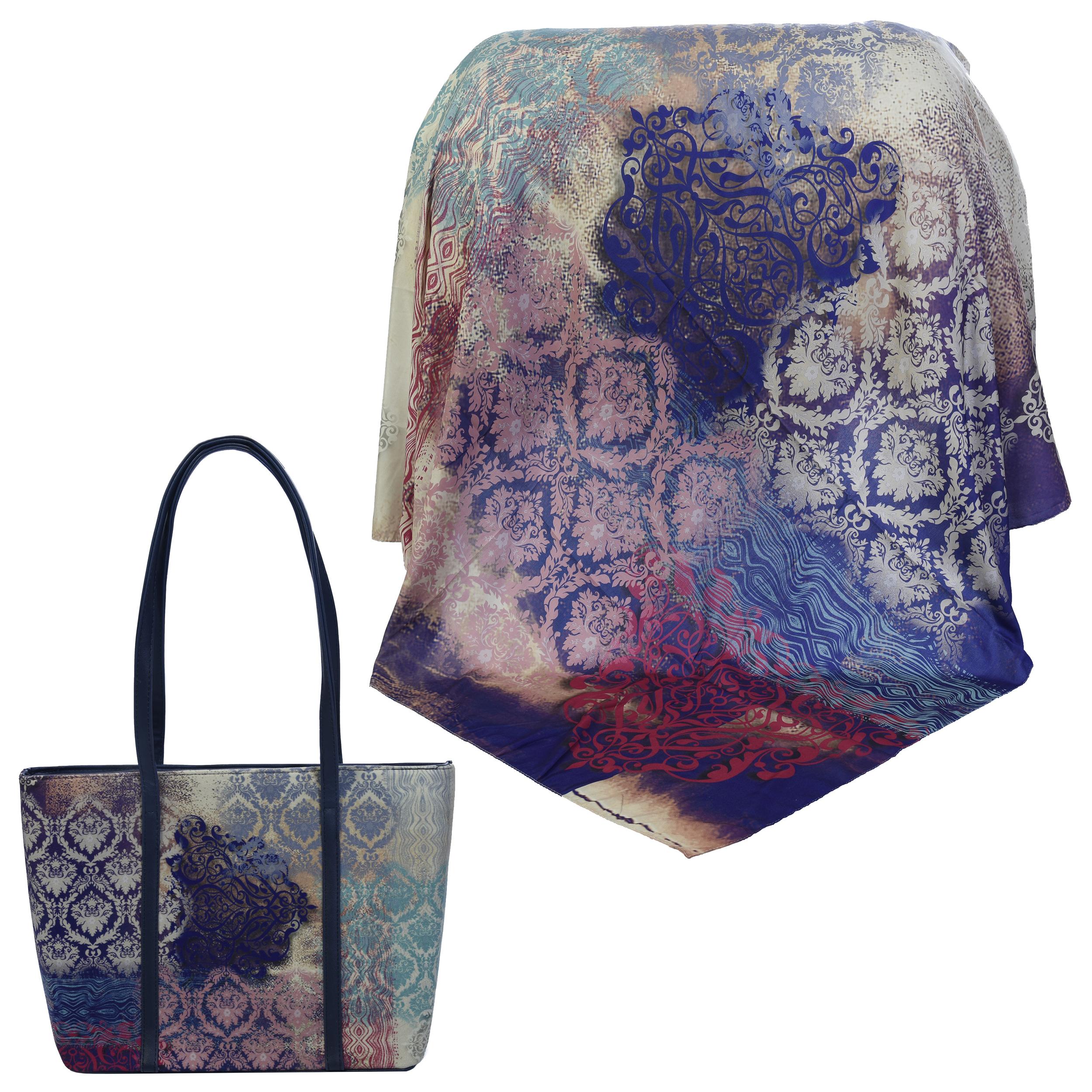 ست کیف و روسری زنانه کد 990117-T1