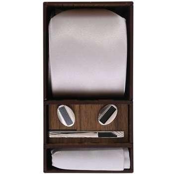 ست کراوات و دستمال جیب و دکمه سردست مردانه مدل PJ-103493