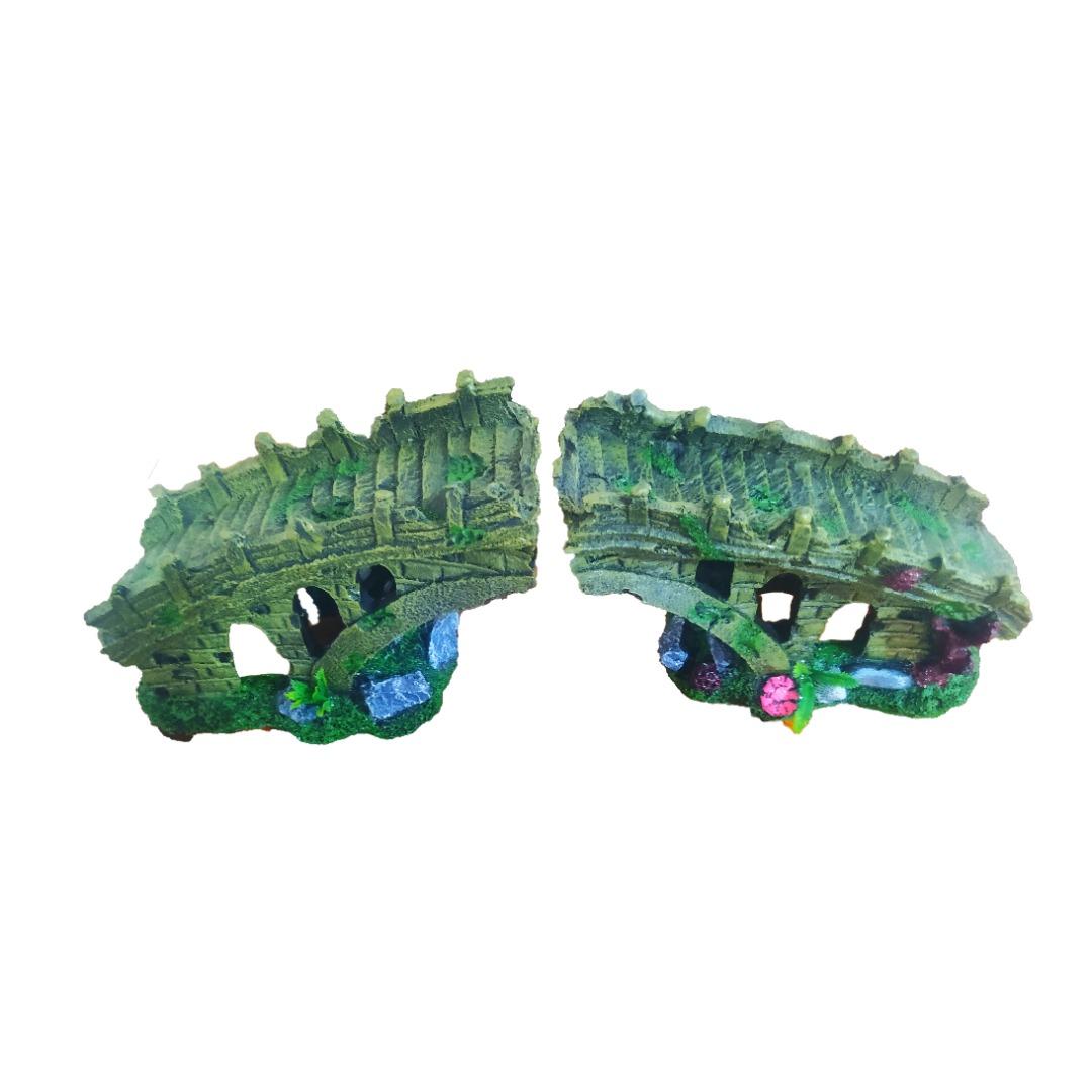 پل تزئینی آکواریوم مدل 059 مجموعه 2 عددی