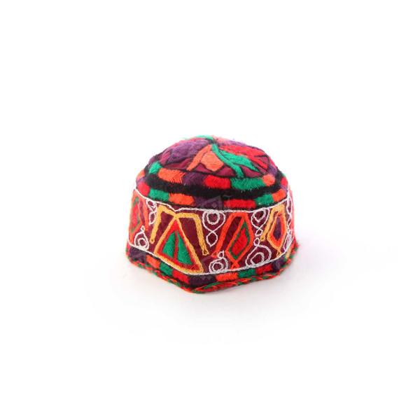 کلاه پارچه ای بخارادوزی زنانه رنگارنگ مدل 1213500004