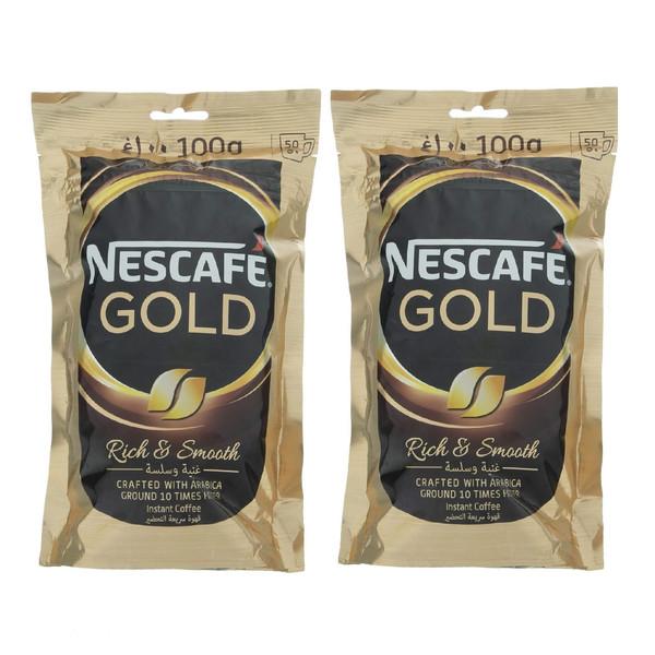 قهوه فوری نسکافه گلد - 100 گرم بسته 2 عددی