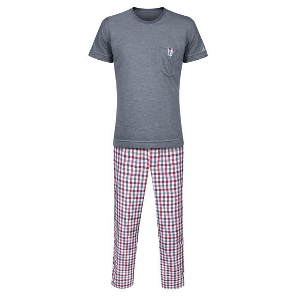 ست تی شرت و شلوار مردانه ساروک مدل STSHNJ110 -07 رنگ دودی