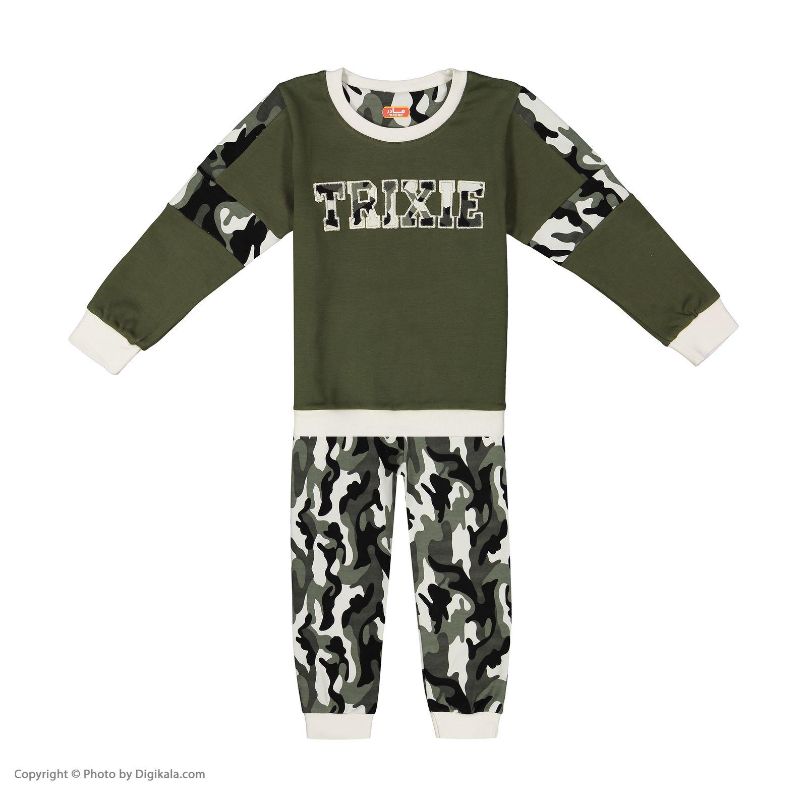 ست تی شرت و شلوار پسرانه مادر مدل 310-49 main 1 1