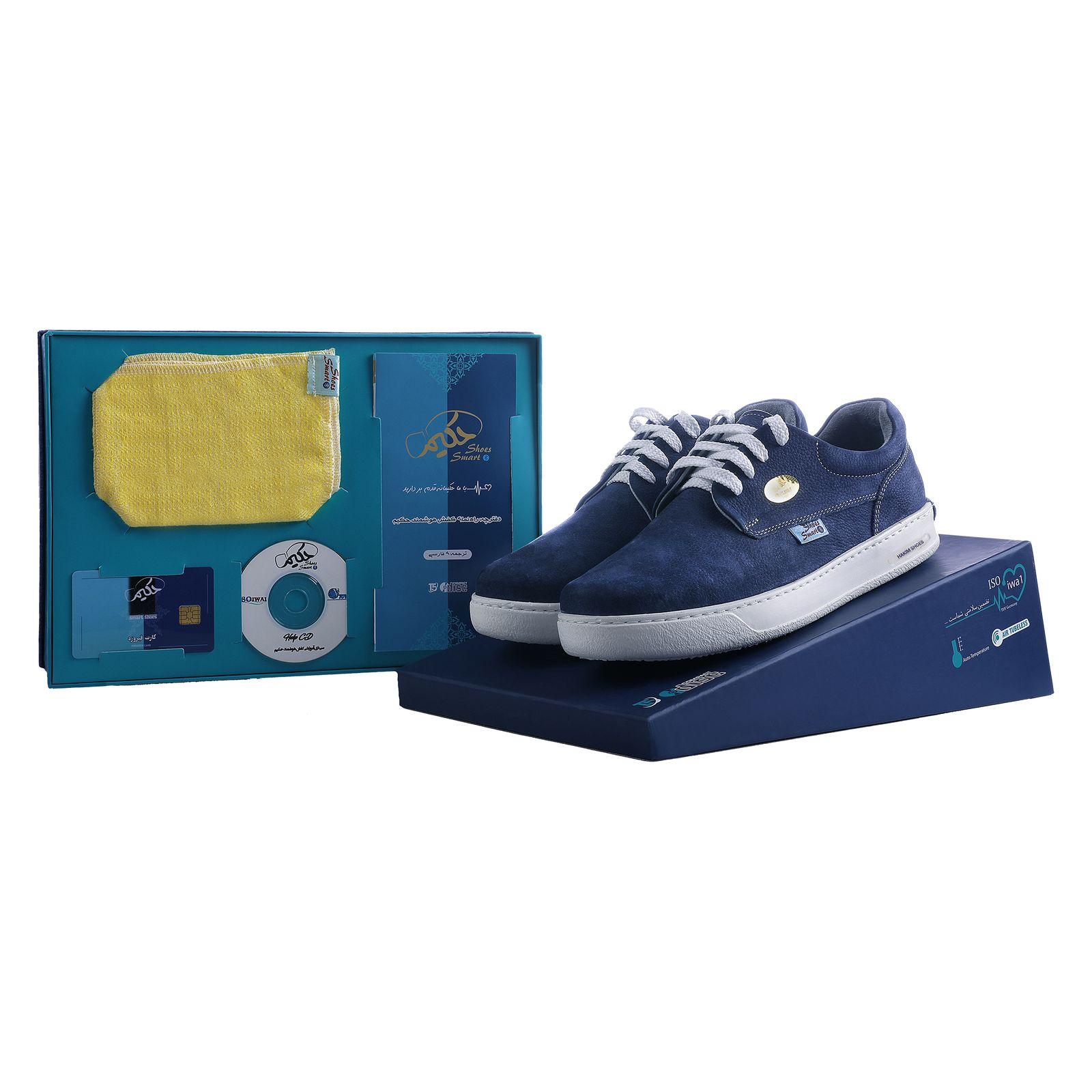 کفش روزمره هوشمند مردانه حکیم مدل T5 رنگ سرمه ای -  - 5