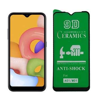 محافظ صفحه نمایش 9D مدل CRA-A01 مناسب برای گوشی موبایل سامسونگ Galaxy A01 / M01