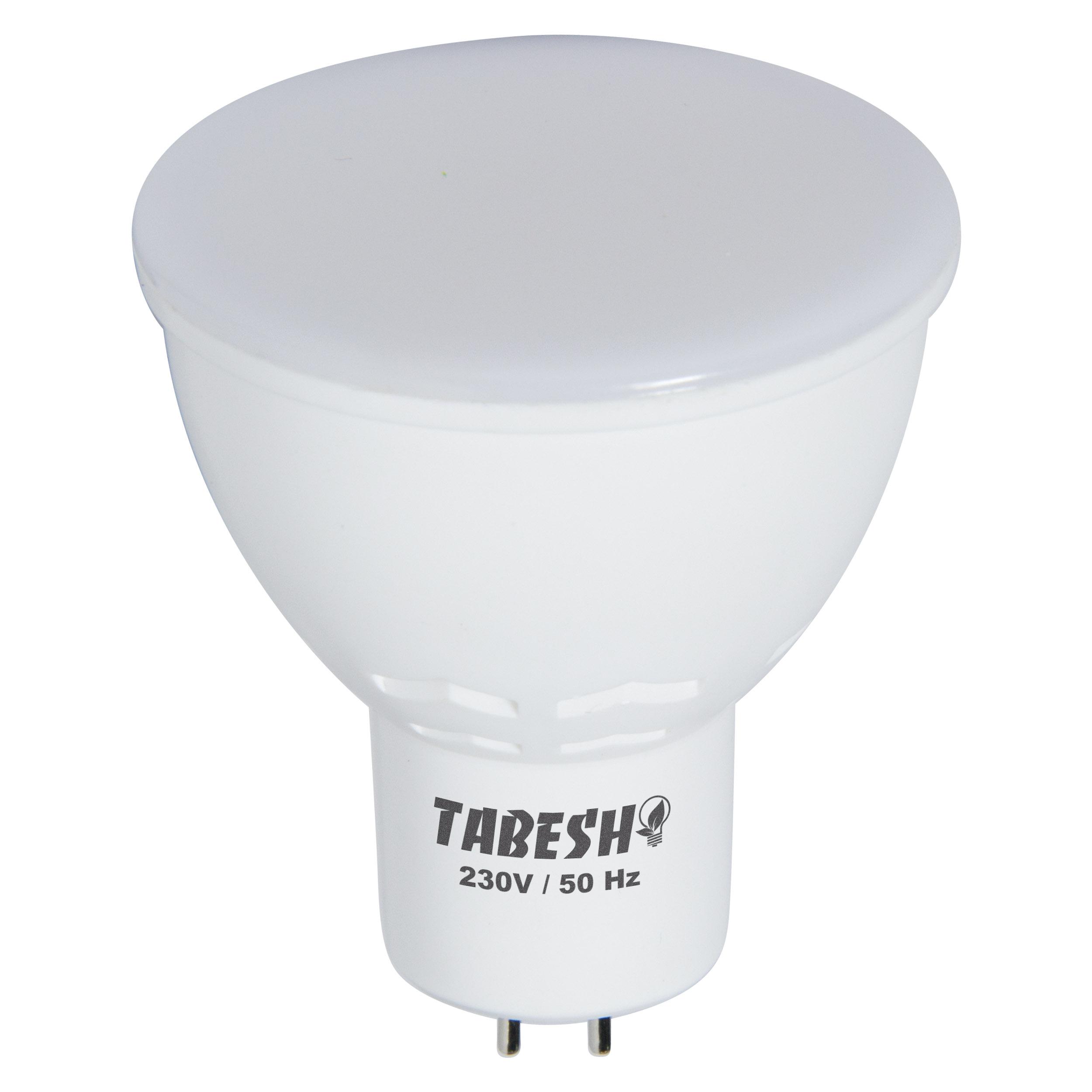 لامپ ای ای دی 7 وات تابش مدل مات پایه GU5.3 بسته 100 عددی