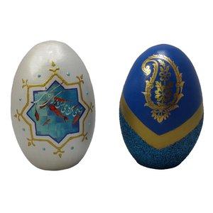 تخم مرغ تزیینی مدل 110_2 مجموعه 2 عددی