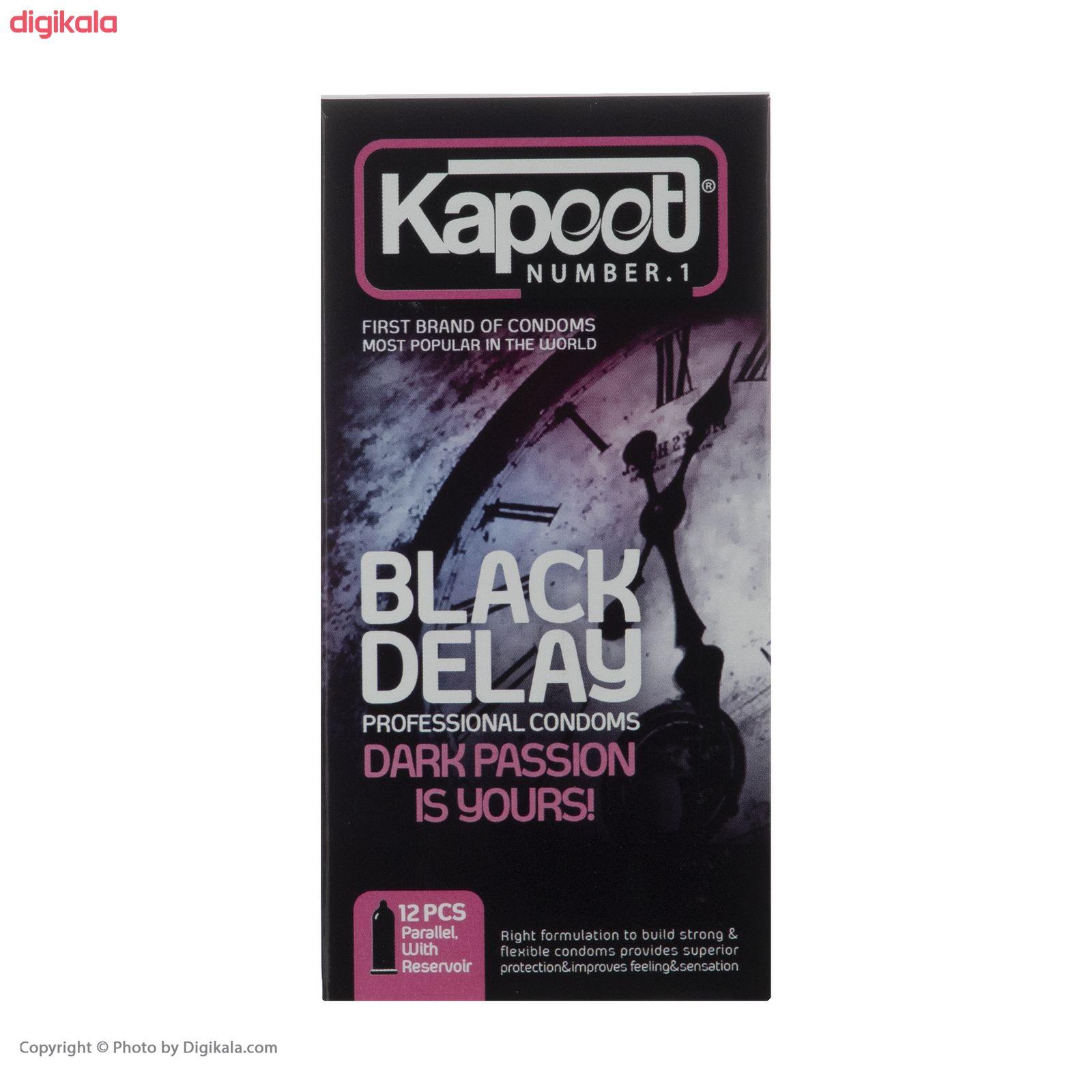 کاندوم تاخیری کاپوت مدل Black Delay  بسته 12 عددی main 1 3