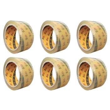 چسب نواری پهن جیلو کد 01 عرض 4.8 سانتی متر بسته 6 عددی