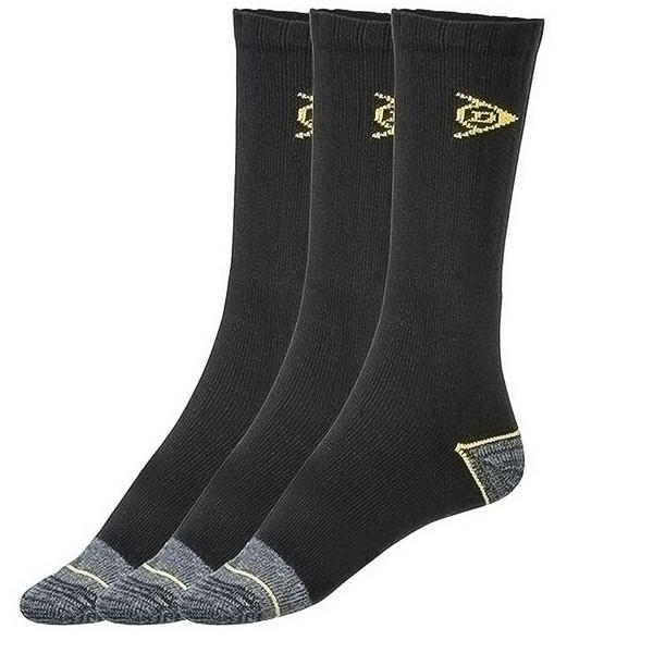 جوراب مردانه دانلوپ مدل WorkBLK بسته 3 عددی