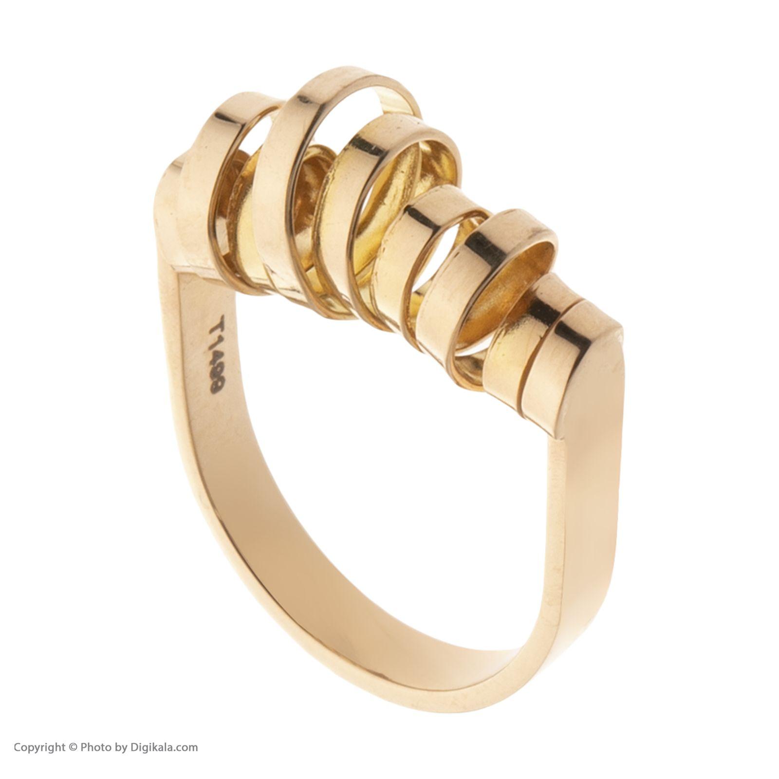 انگشتر طلا 18 عیار زنانه سنجاق مدل X068337 -  - 4