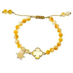 دستبند طلا 18 عیار دخترانه کرابو طرح خورشید مدل Krd1026