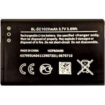 باتری موبایل ان او کی مدل BL5C ظرفیت 1020 میلی آمپر ساعت مناسب برای گوشی موبایل نوکیا 1100