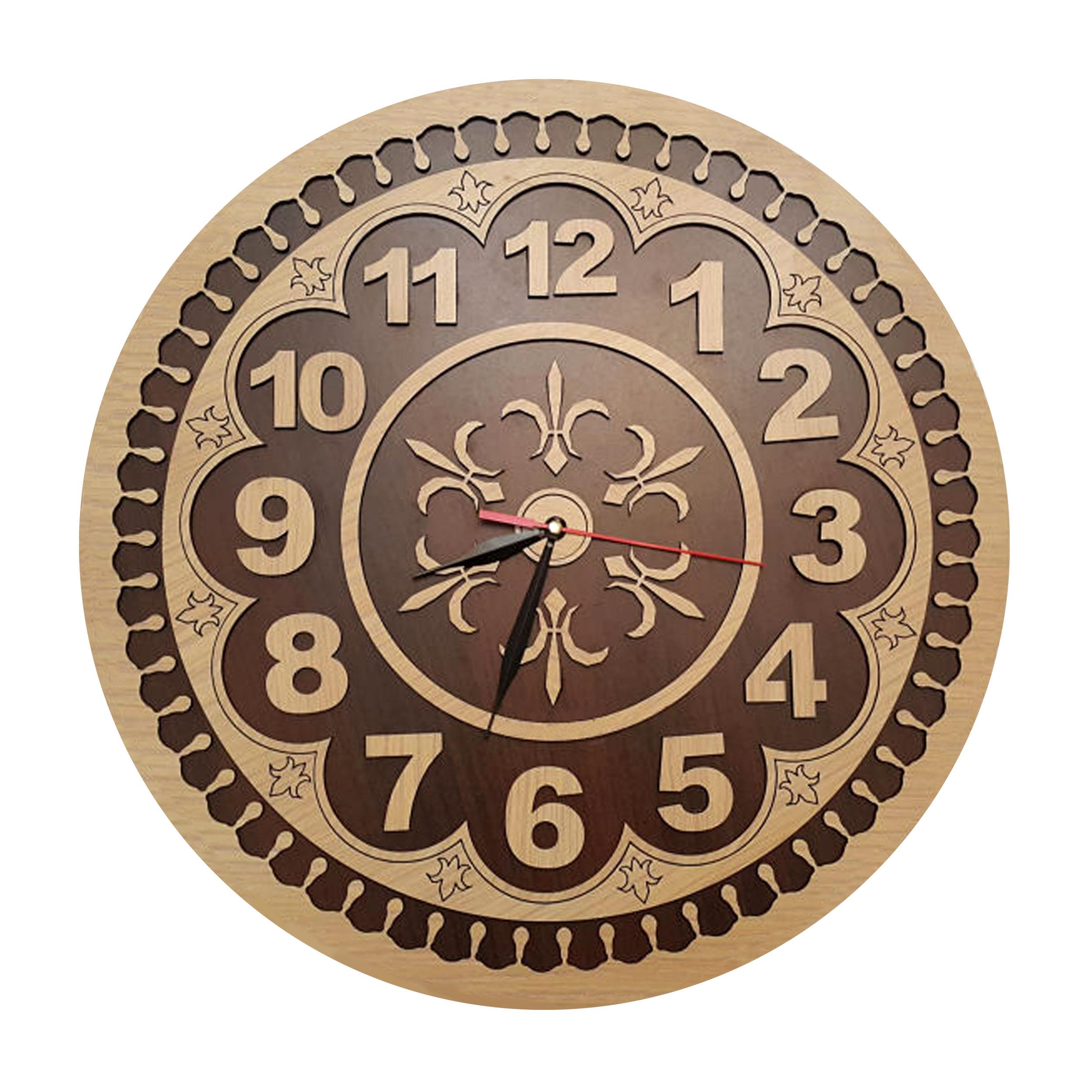 خرید                      ساعت دیواری طرح گلبرگ کد SA1