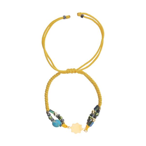 دستبند طلا 18 عیار زنانه نیوانی مدل Ba1007