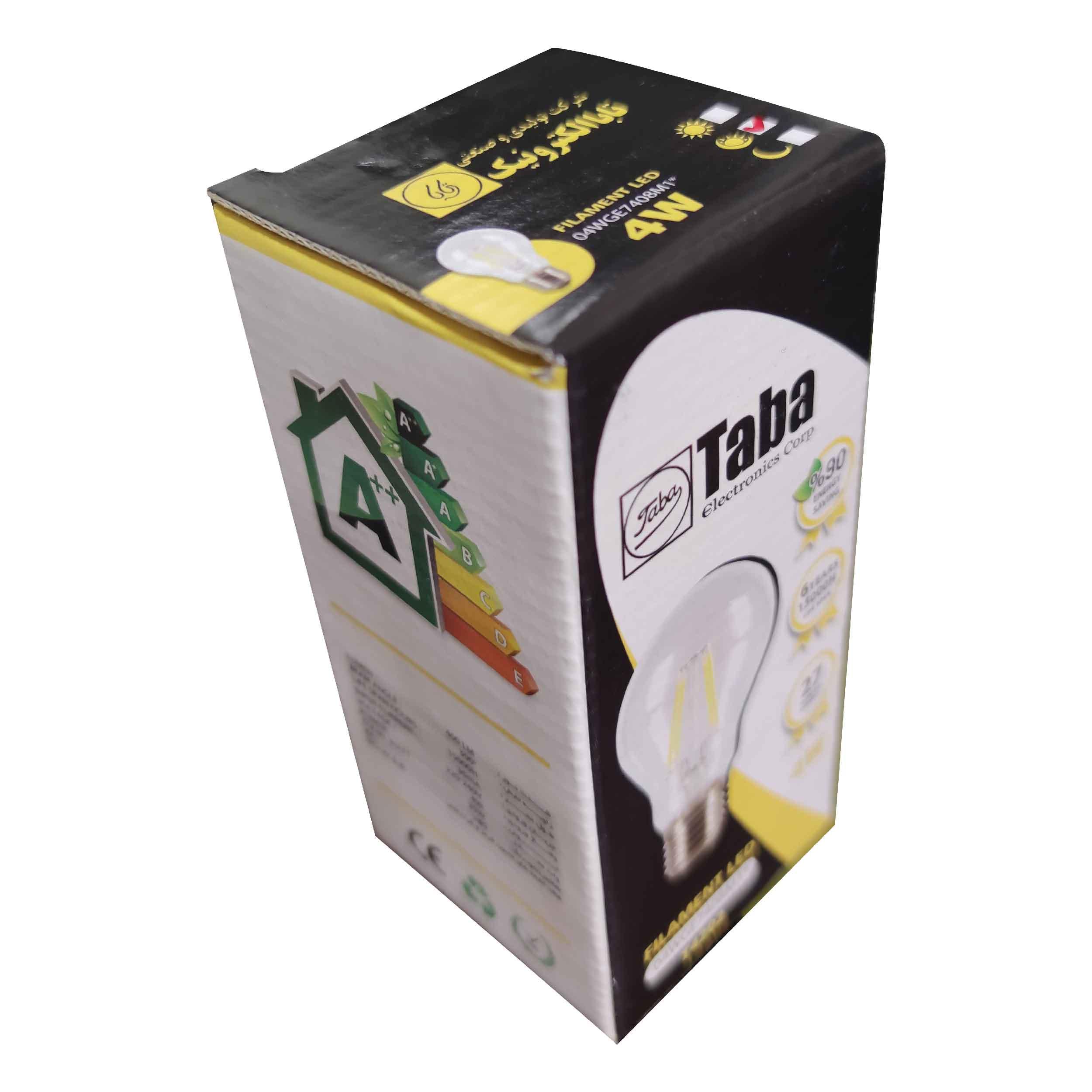 لامپ 4 وات تابا مدل T4202 پایه E27