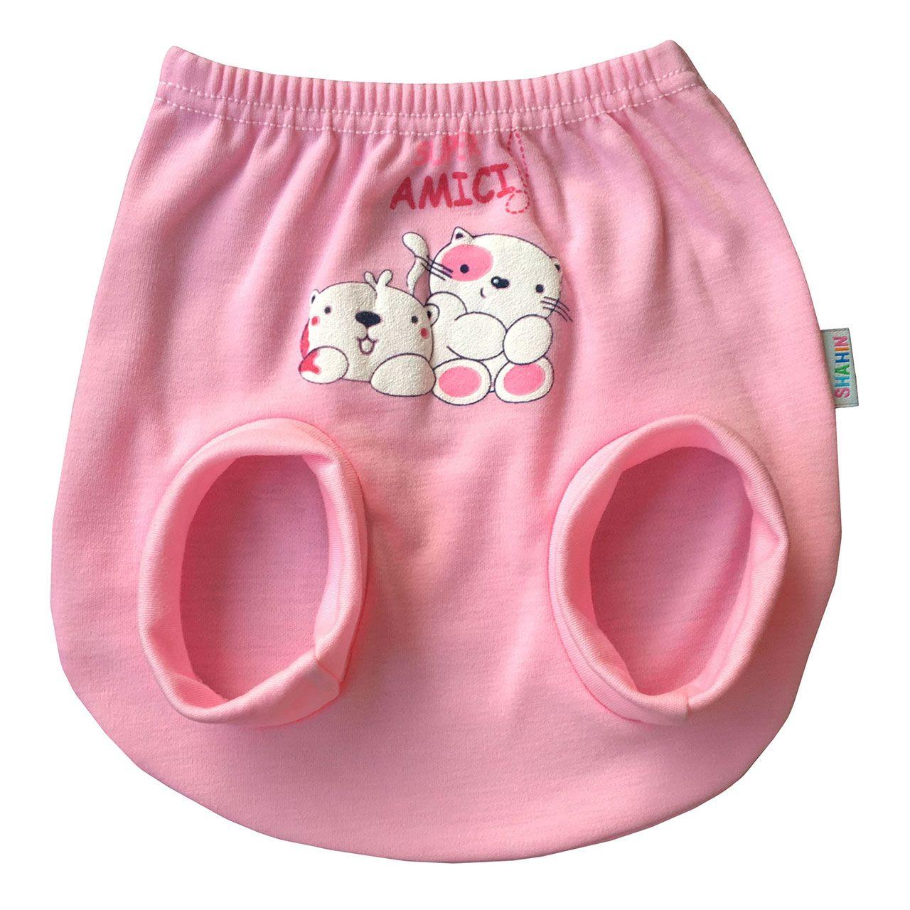 ست 3 تکه لباس نوزادی دخترانه شاهین طرح امیکی کد L -  - 5