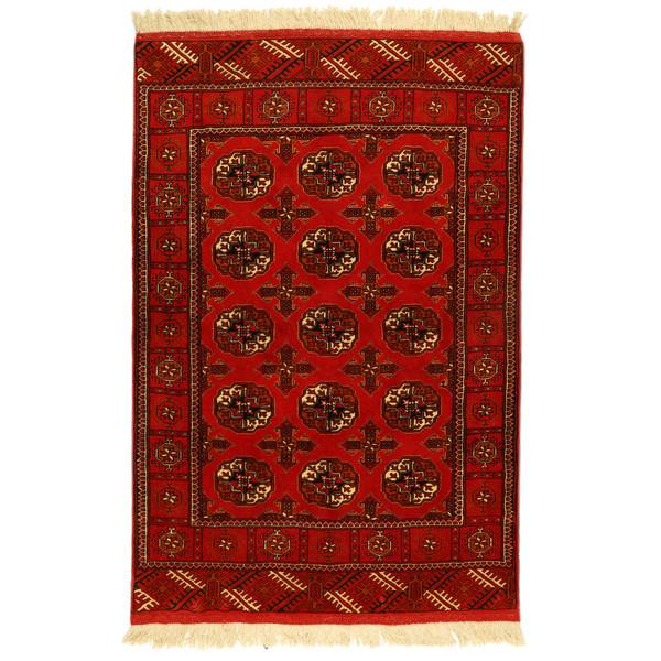 فرش دستبافت یک و نیم متری مدل ترکمن کد 990993