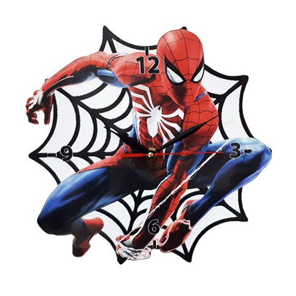 ساعت دیواری کودک مدل مرد عنکبوتی کد 02