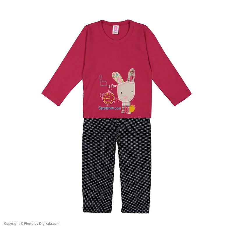 ست تی شرت و شلوار دخترانه سون پون مدل 1391415-88