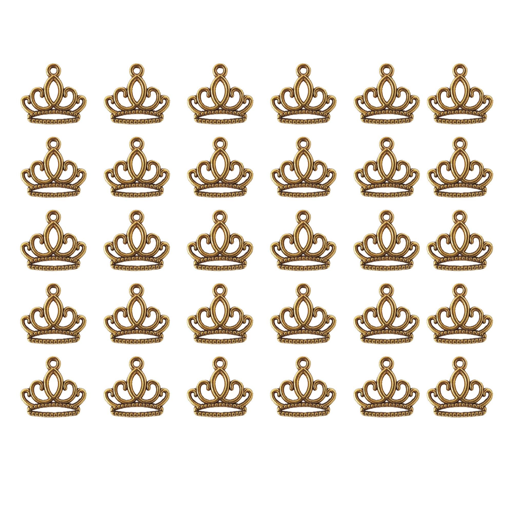 آویز دستبند نمدیکا طرح تاج مدل کویین بسته ۳۰ عددی