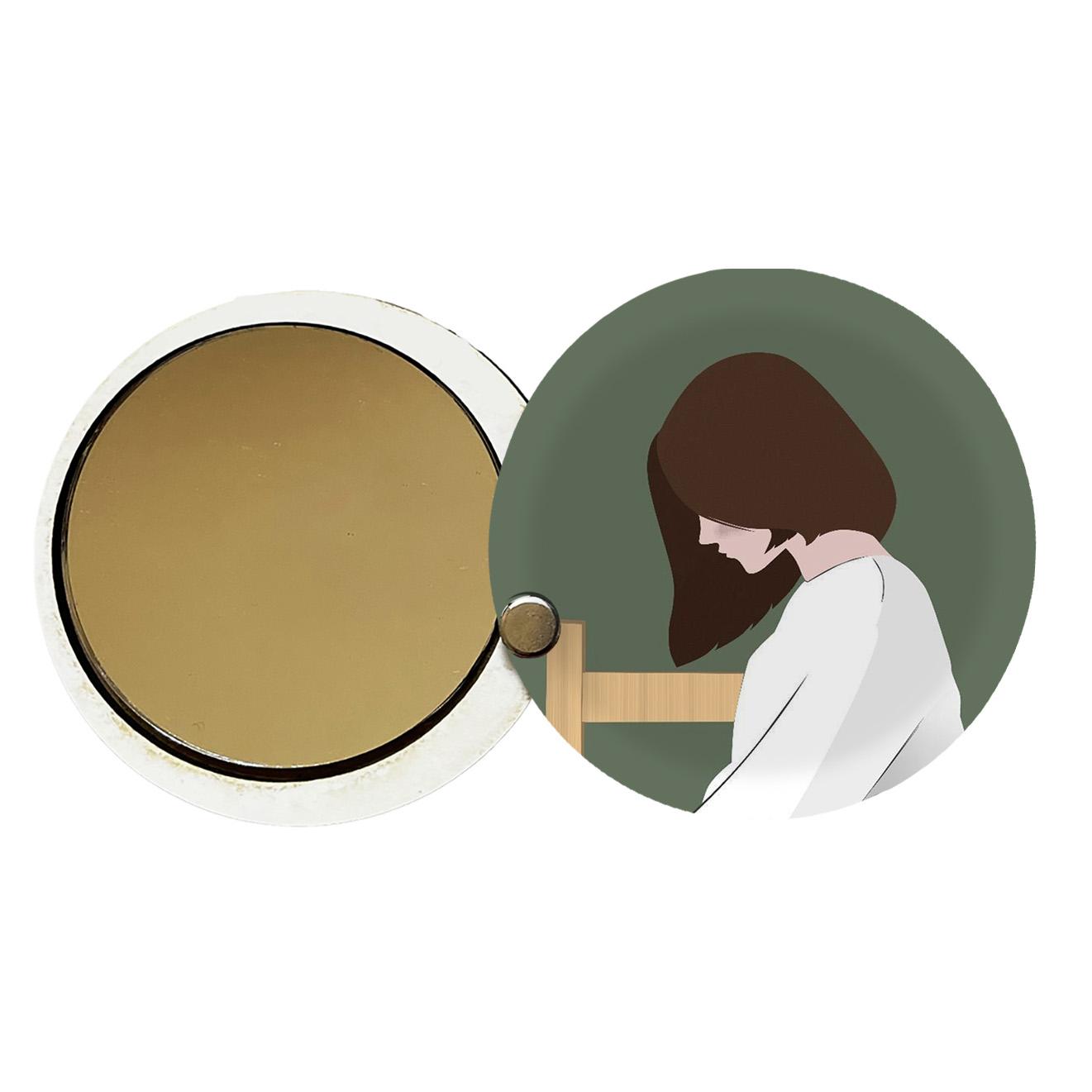 آینه جیبی طرح دخترانه کد ay53